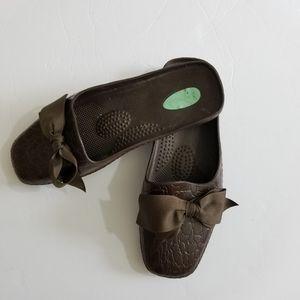 OkaB Brown Mule Slides Size M/L